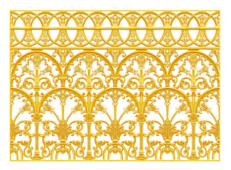 baroque: Ornament elements, vintage gold floral designs