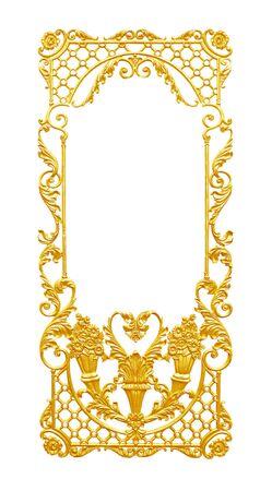 vintage scrolls: Ornament elements, vintage gold floral designs
