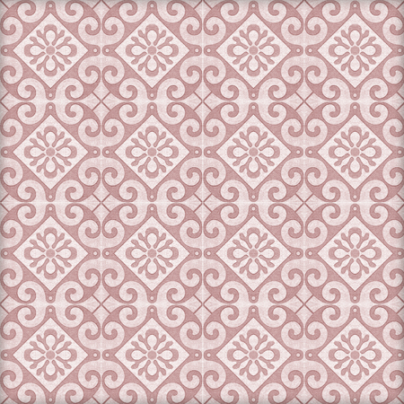 Old ceramic tiles patterns handicraft from thailand In the park public. Stock Photo