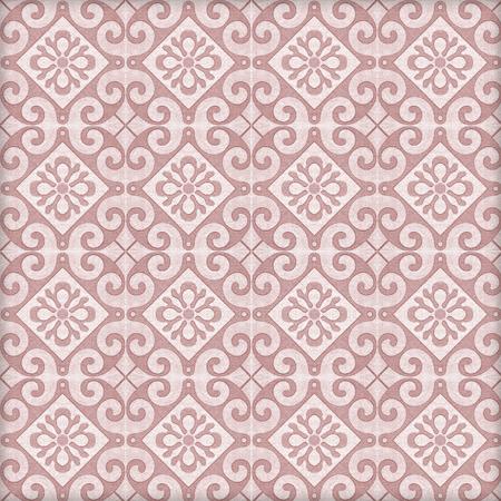 Old ceramic tiles patterns handicraft from thailand In the park public. Archivio Fotografico