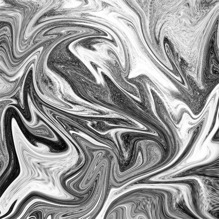 painterly effect: Abstract marble texture. Black and white background Stock Photo