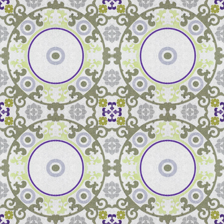 azulejos: Beautiful ceramic tiles patterns handcraft from thailand In the park public.