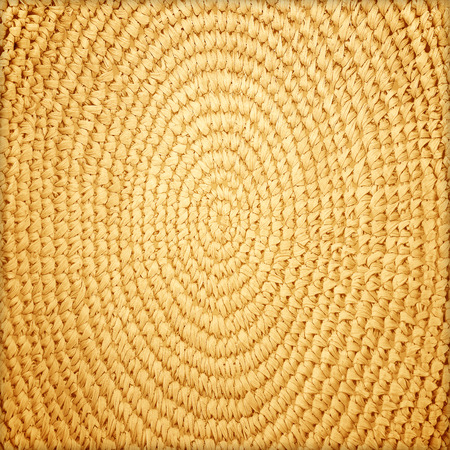 basketry: Circle basketry pattern texture background Stock Photo