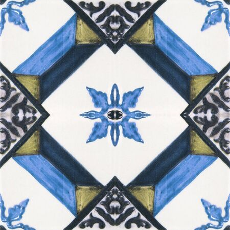 handcraft: Beautiful ceramic tiles patterns handcraft from thailand In the park public. Beautiful ceramic tiles patterns handcraft from thailand In the park public. Stock Photo