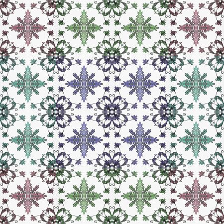 azulejos: Old ceramic tiles patterns handicraft from thailand In the park Stock Photo