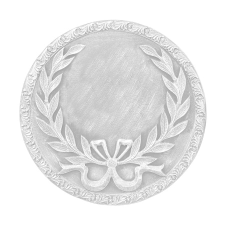 silver medal: silver medal isolated on  white background