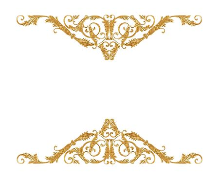 Elementi di ornamento, disegni floreali d'oro d'epoca