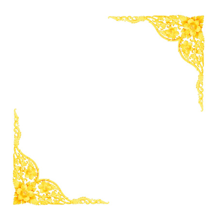 wall design: Stucco golden sculpture decorative pattern wall design