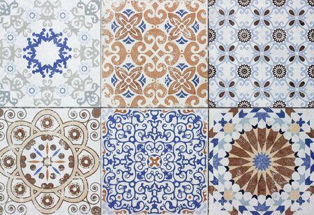 Vintage colorée céramique tuiles anciennes décoration murale fond