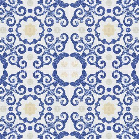 ceramic tiles: Old ceramic tiles patterns background in the park public