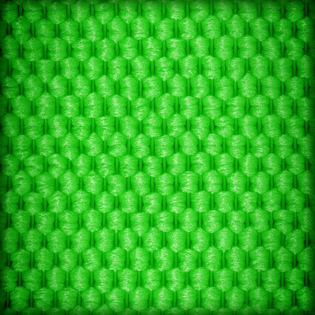 macro: Green fiber textile background Stock Photo