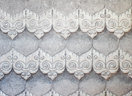 aluminum sheet: Aluminum Sheet pattern Crafts wall in the temple of thailand Lanna style Chiang Mai, Thailand.