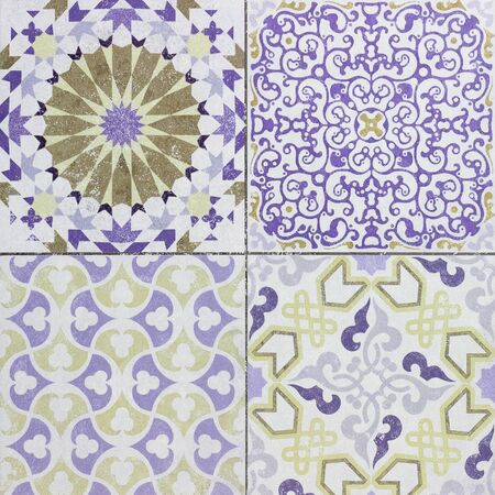 ceramic tiles: Beautiful old ceramic tile wall patterns in the park public.