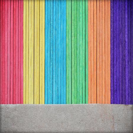 depressor: colorful ice cream sticks. colorful wood