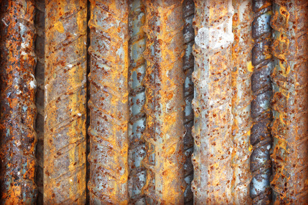 ripped metal: Steel bars close- up background. Reinforcing bar background. Stock Photo