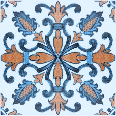 ceramic: Beautiful old ceramic tile wall patterns in the park public.