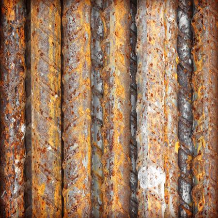 reinforcing: Steel bars close- up background. Reinforcing bar background. Stock Photo