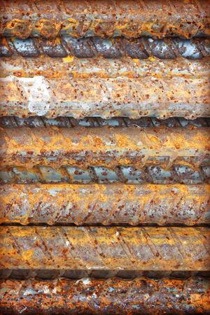 reinforcing bar: Steel bars close- up background. Reinforcing bar background. Stock Photo