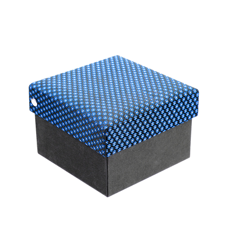 messaline: silk box isolated on white background,gift box Stock Photo