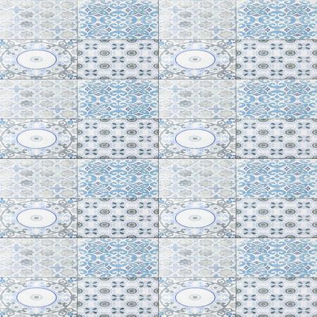 ceramic tile: old ceramic tile wall patterns in the park public.