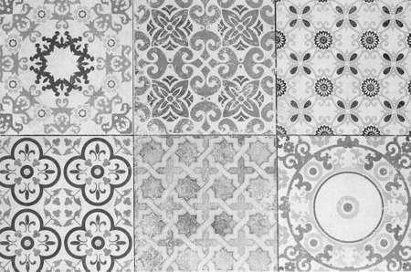 ceramic tile: Beautiful old ceramic tile patterns in the park public.