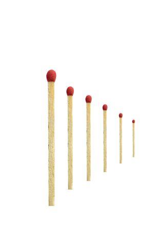 Match isolated on white background. Stock Photo
