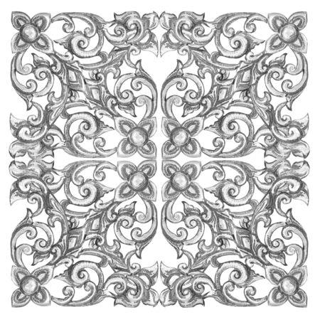 silver frame: Ornament elements frame, vintage silver floral designs