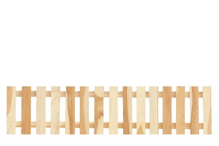 wooden fence isolate on the white background Stock Photo