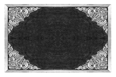 old decorative frame - handmade, engraved -  on white background Stock Photo