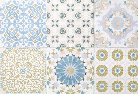 Schöne alte Keramikfliesen Muster im Park Öffentlichkeit Standard-Bild - 80062515