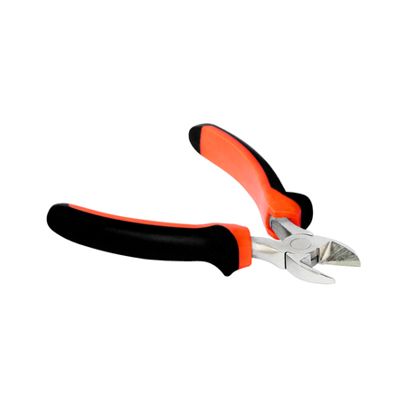 wire cutter: cutting pliers isolate on white background. Stock Photo