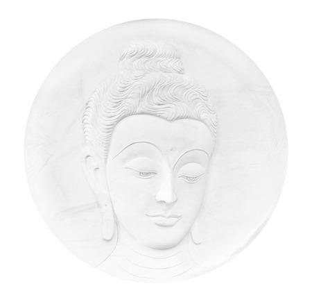 Buddha face; Buddha statue Stock Photo