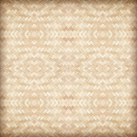 close up woven bamboo pattern background Stock Photo - 112671203