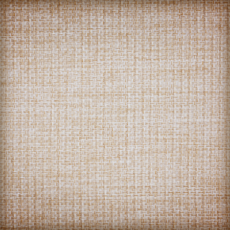 Brown sackcloth texture or background and empty space. Stock Photo