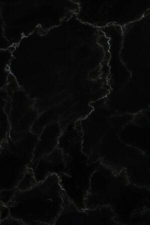 Czarny marmur naturalny wzór na tle, abstrakcyjny naturalny marmur czarno-biały