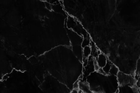 Black marble natural pattern for background, abstract natural marble black and white. Stock Photo