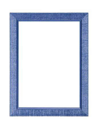 Blue frame isolated on white background.
