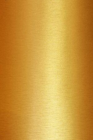 Gold polierter Metallstahl Hintergrund oder Textur. Standard-Bild