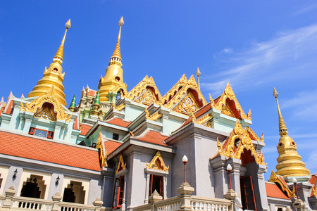 good weather: temple be sunny bright sky and good weather