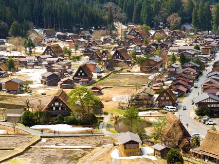 shirakawago: Old town  World Heritage at Shirakawago  Japan Stock Photo