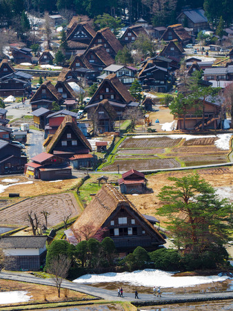 gokayama: Old town  World Heritage at Shirakawago  Japan Stock Photo