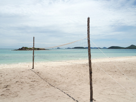 Volley: Beach volley ball court in the island Stock Photo