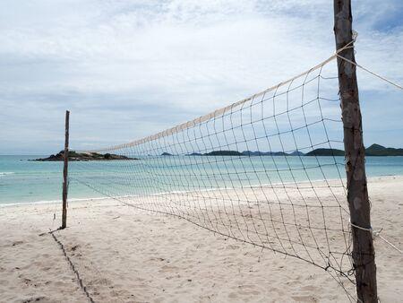 pelota de voley: Playa de balonvolea en la isla Foto de archivo