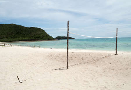 beach volley: Beach volley ball court in the island Stock Photo
