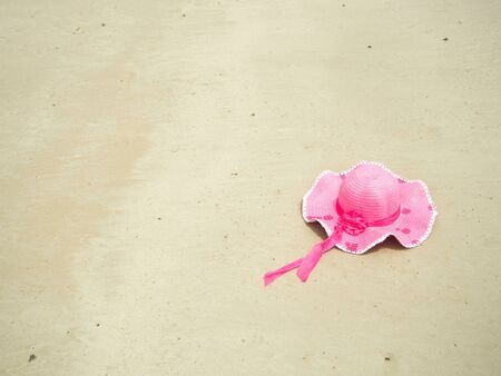 pink hat: Pink hat on the beach
