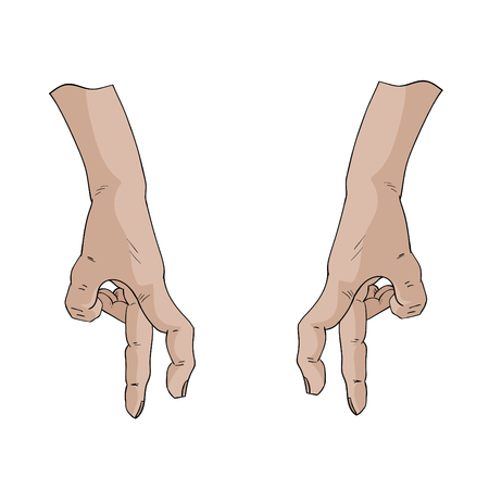 finger nails: hands walk by forefinger and middle finger
