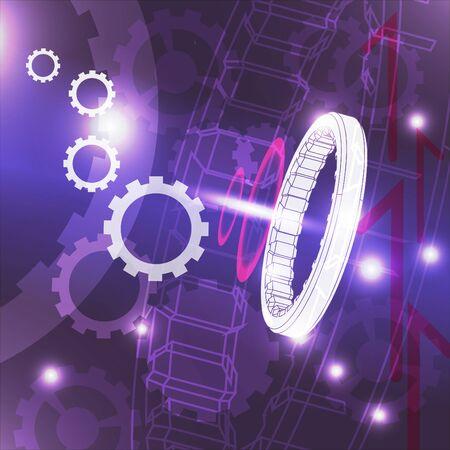 gimmick: gears machanic blue background