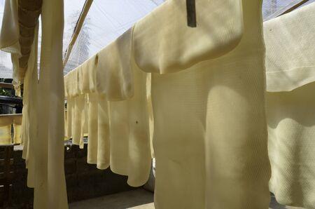 rubber sheet: rubber sheet Stock Photo