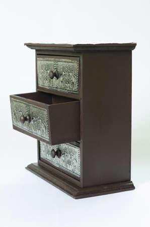 cubiertos de plata: plata tailandesa cajón de madera, patrón de belleza