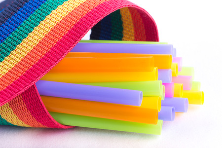 colorful straw: colorful straw